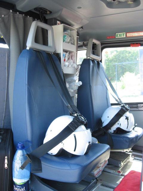 Elicopter SMURD - interior