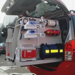 Masina medic - echipamente