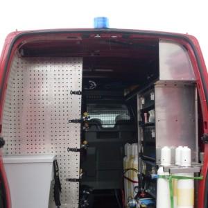 Masina de suport logistic - interior