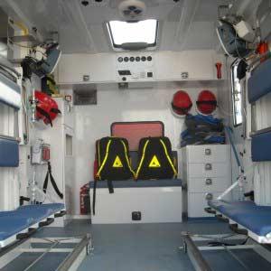Masina transport personal si multiple victime - interior